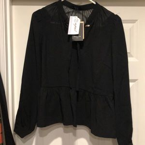 NWT FRnCH for Mapel Boutique peplum top